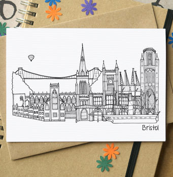Bristol Landmarks Greetings Card
