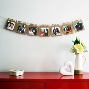 'Happily Ever After' Personalised Papercut Photo Banner - room decorations
