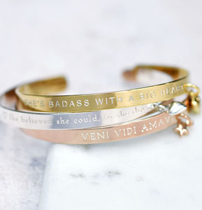 Create Your Own Personality Mantra Bracelet - jewellery