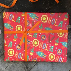 Folk Art Wrapping Paper Set
