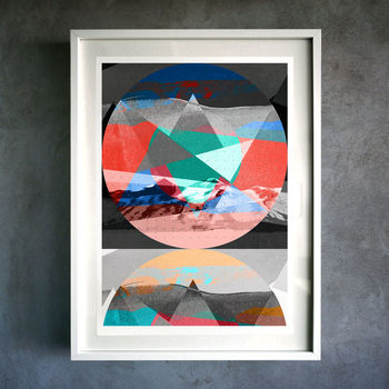 Geometric Mountain. Fine Art Giclée Print
