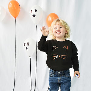 'Cat Face' Halloween Children's Sweatshirt Jumper