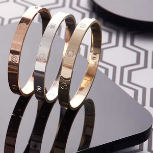 Diamante And Screw Embossed Bangle - bracelets & bangles