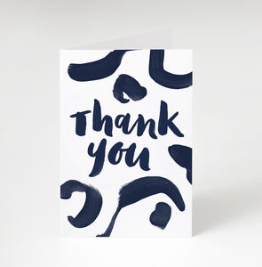 Navy 'Thank You' Greetings Card