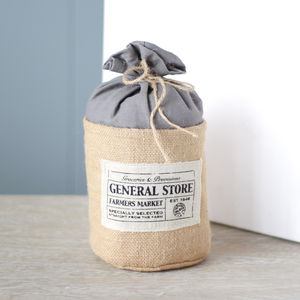 Hessian Farmers Market Door Stop - decorative accessories