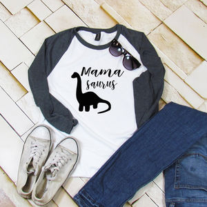 Baseball Mamasaurus Classic T Shirt - women's fashion