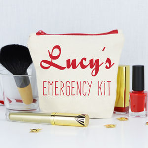 Personalised 'Emergency Kit' Make Up Bag