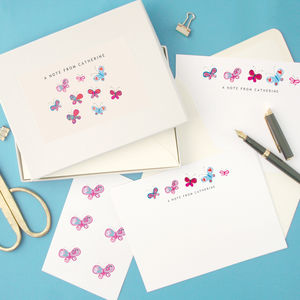 Personalised Butterflies Writing Set - stationery