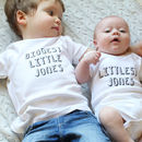 Personalised Littlest Family Member Babygrow Or Set