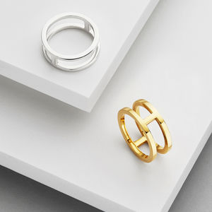 Double Band Ring - contemporary jewellery