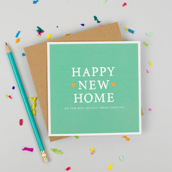 'Happy New Home' Boxes Card