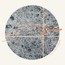 Personalised Circular London Coordinates Map