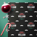 Personalised Moustache Christmas Wrap