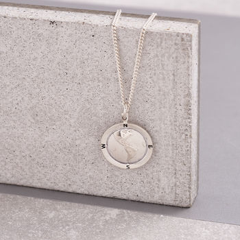 Personalised Silver Globe Necklace from Scarlett Jewellery
