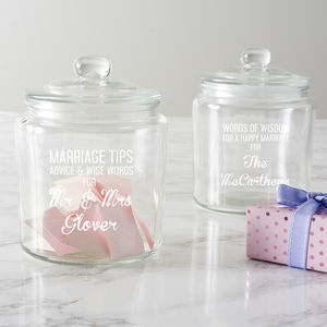 Personalised Marriage Tips Jar - less ordinary guest books