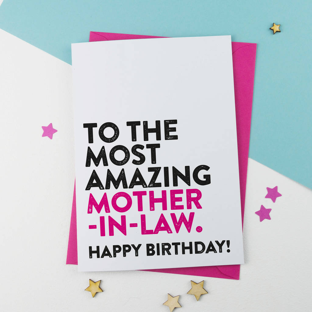 Most amazing mother in law birthday card by a is for alphabet most amazing mother in law birthday card m4hsunfo