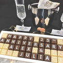 Personalised 25th Silver Anniversary Chocolates
