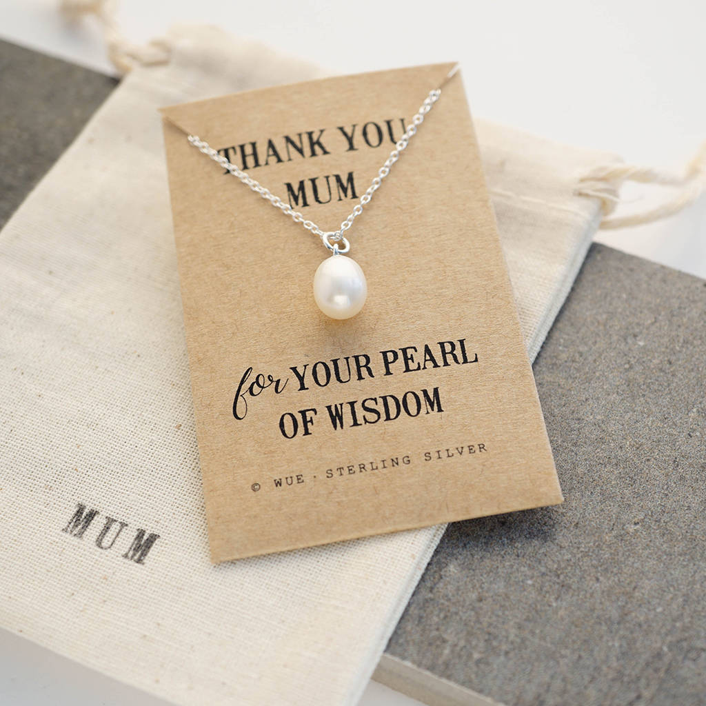 Mum Pearl Of Wisdom Necklace