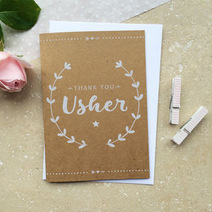 Usher Thank You Card - wedding thank you gifts