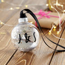 Personalised Map Location Bauble