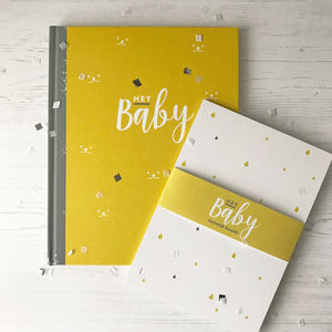 Baby Journal And Memory Book Baby Shower Gift Set - keepsakes