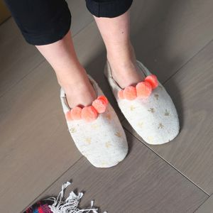 Palm Tree Print Slippers - women's fashion