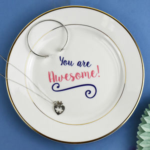 'You Are Awesome' Jewellery Trinket Dish