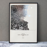 Metallic Map Print - prints & art