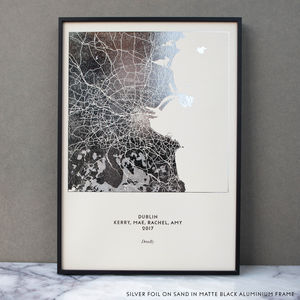 Metallic Map Print - gifts for him