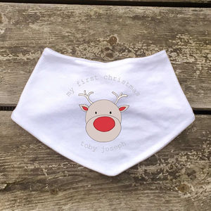 Personalised My First Christmas Bib