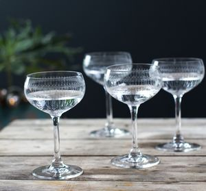 Vintage Champagne Glass - drink & barware