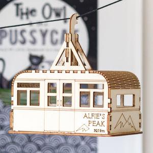 Personalised Cable Car Nightlight - baby's room