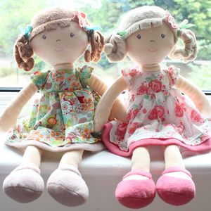Pink Or Orange Flower Girl Doll