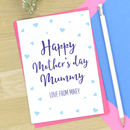Personalised Mother's Day Card For Mummy/Mum