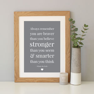 Winnie The Pooh Quote Print - gifts for him