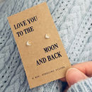 'Moon And Back' Silver Earrings