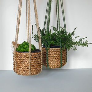 Mini Rope Hanging Basket Kit - pots & planters