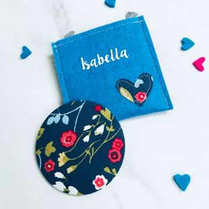 Pocket Mirror And Personalised Pouch