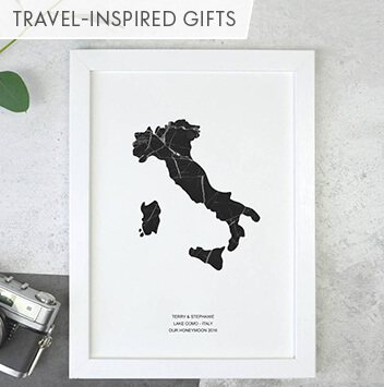 travel inspired wedding gifts