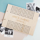 Personalised Polka Dot Wedding Photo Album