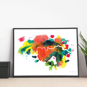 'London' Abstract Map Fine Art Giclée Print