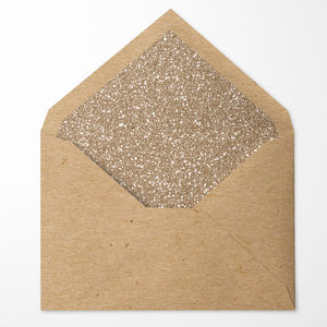 Gold Glitter Lined Envelopes. Pack Of 10 - card crafting