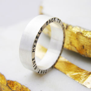 Chunky Personalised Silver Ring - valentine's gifts for him