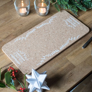 Personalised Natural Christmas Cork Runner - decoration