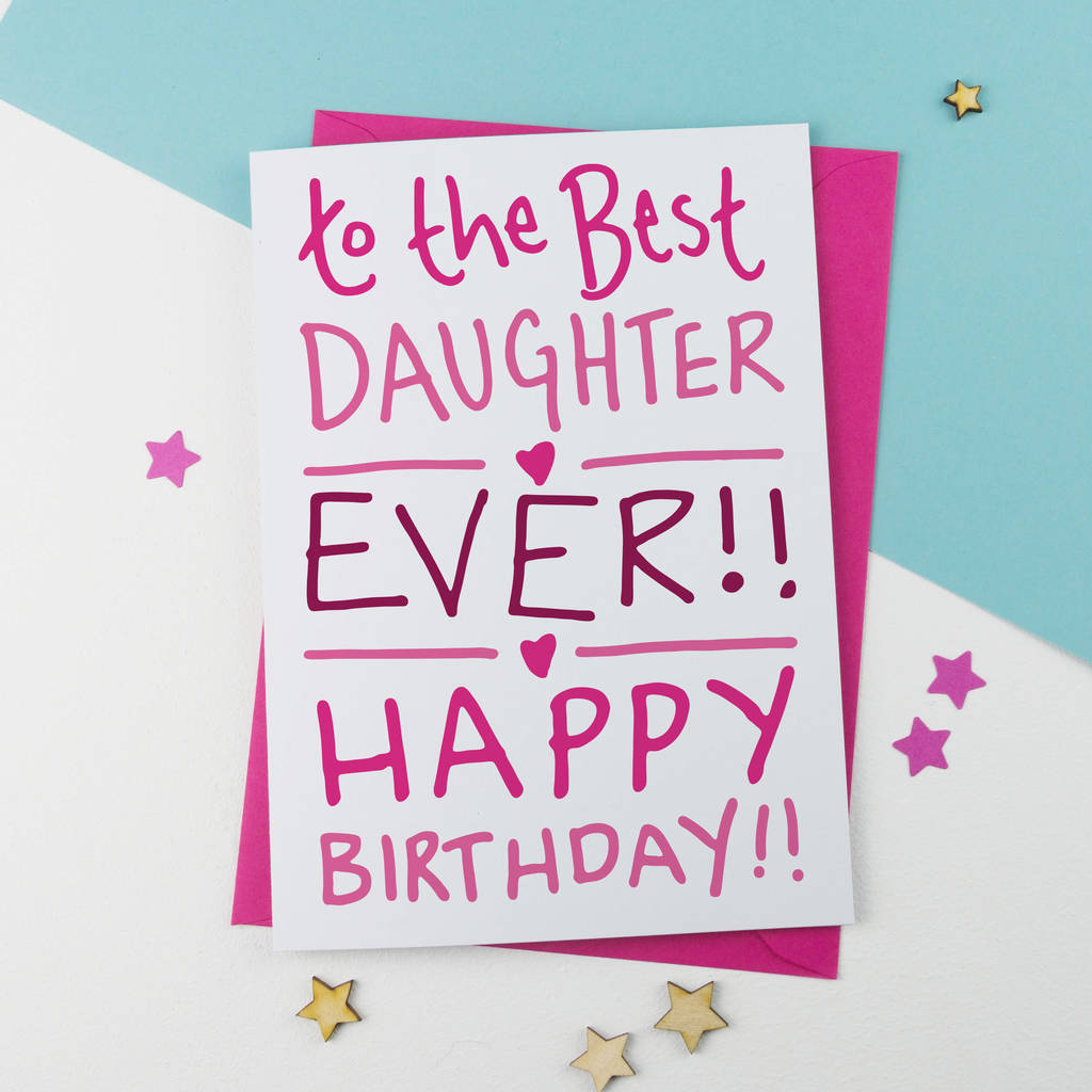Astonishing Birthday Card For Best Daughter By A Is For Alphabet Funny Birthday Cards Online Inifodamsfinfo
