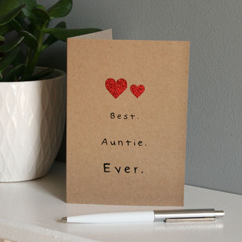 The Best Auntie Ever Card