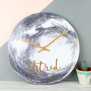 Personalised Moon Wall Clock - clocks