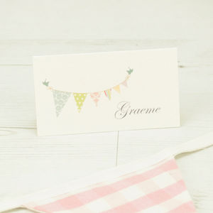 Bunting Name Place Card - place cards