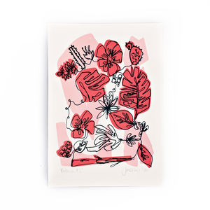 Pink Botanic Screen Print