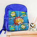 Personalised Comic Style Children's Backpack
